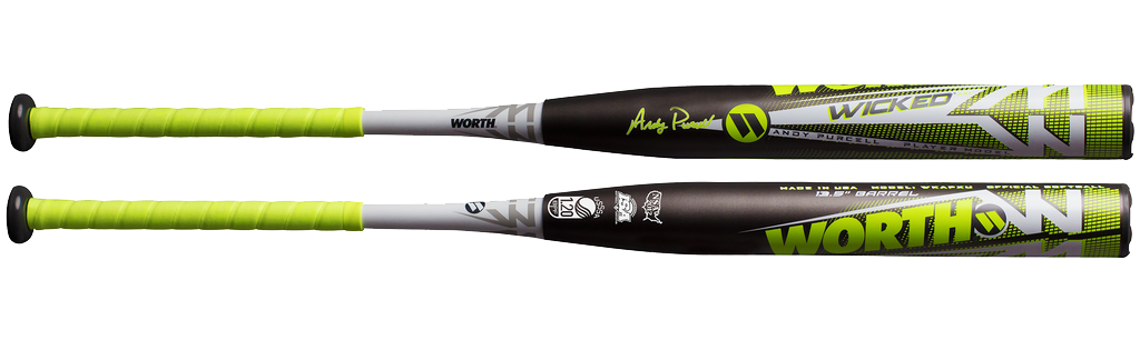 2019 Worth Wicked Purcell XXL 13.5″ 2PC USSSA Slowpitch Softball Bat WKAPXU