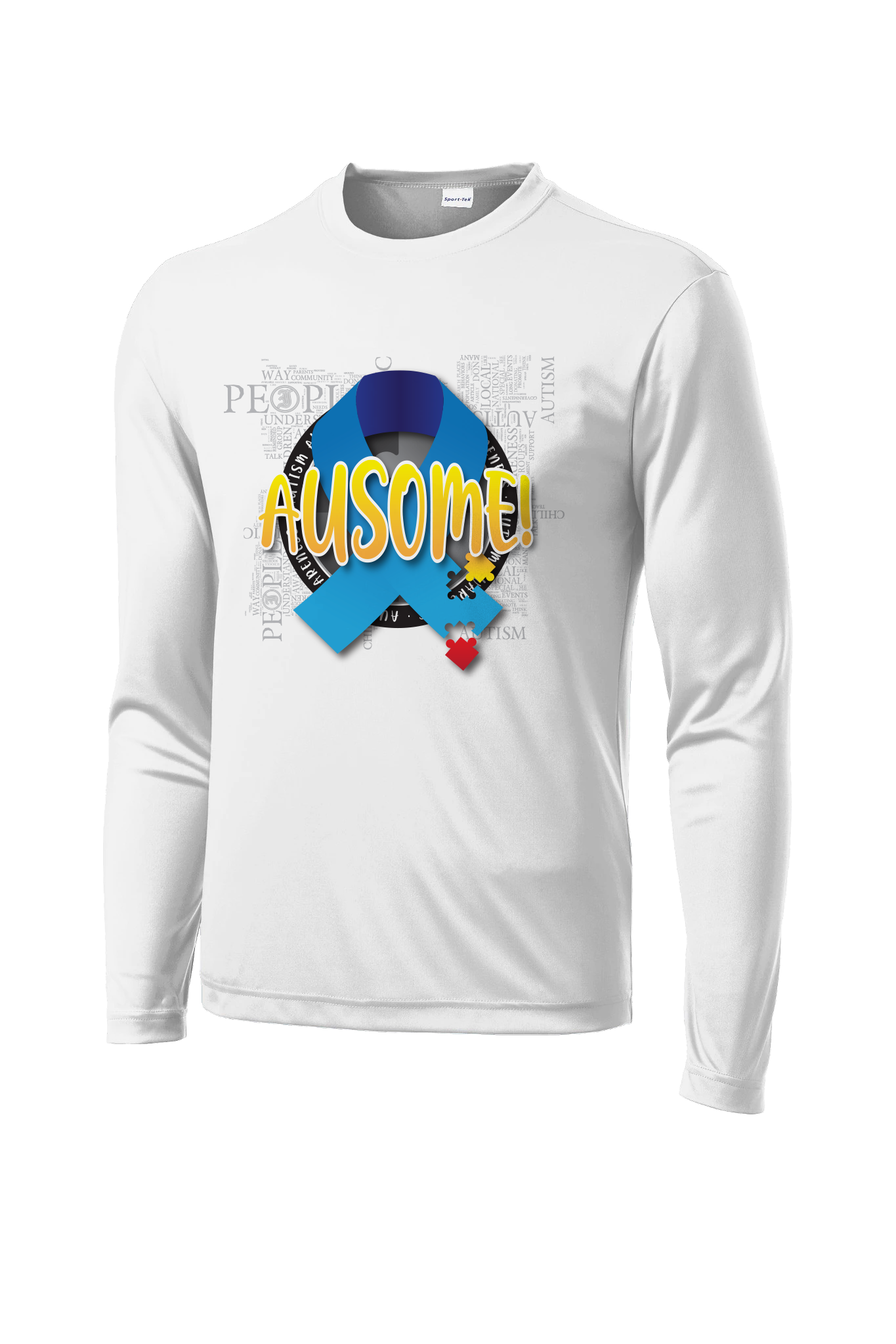 Inferno Sports Autism Long Sleeve White