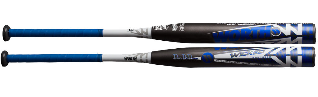 2019 Worth Wicked DeDonatis Balanced 13.5″ 2PC USSSA Slowpitch Softball Bat WKDDBU