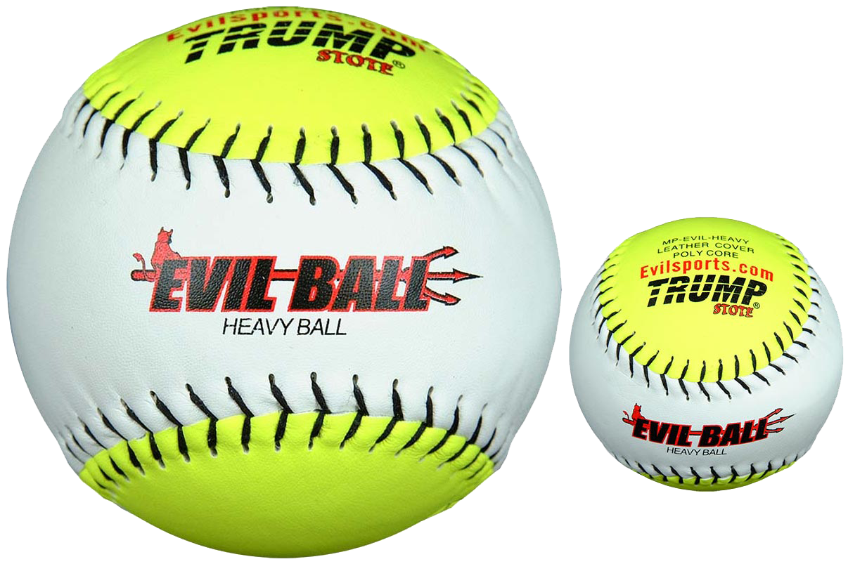 Trump® MP-EVIL-HEAVY Weighted 12 inch Training Softball (NOT a Hittable Ball)