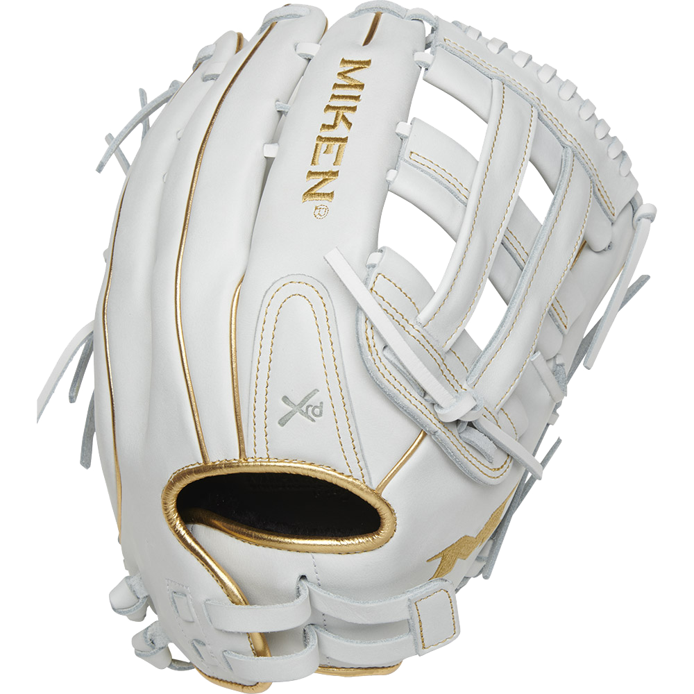 Miken White Gold PRO Series 13.5″ Slowpitch Fielding Glove – PRO135-WG