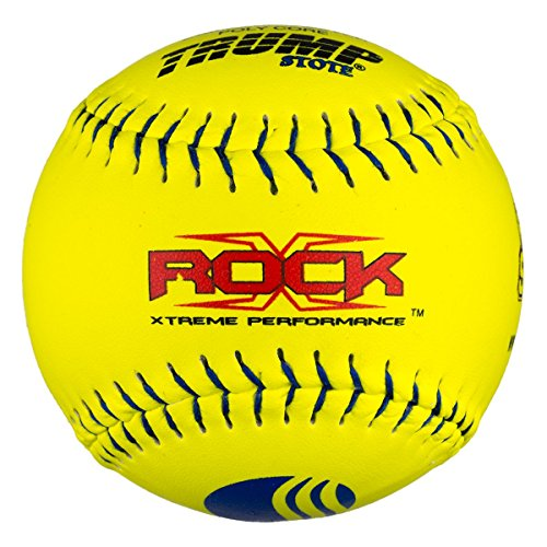 Trump®X-ROCK-CLAS-Y-2Evil Sports 12 inch Softball - Premium Yellow Leather - USSSA Approved