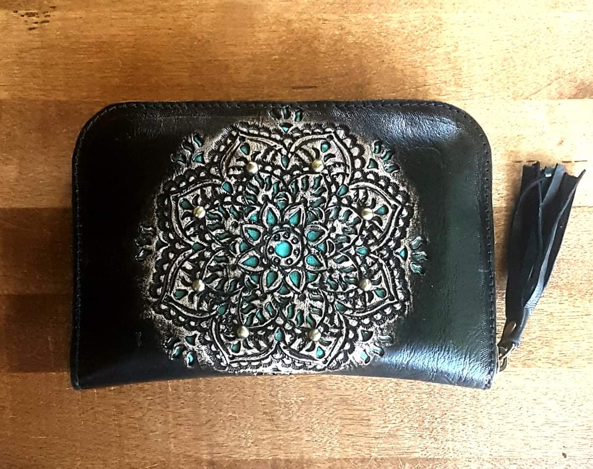Black, Antique and Green Mandala
