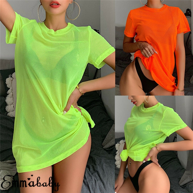 The Neon Beach Cover Up