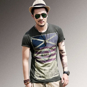 Short Sleeve Men's T-shirt men's brand fashion round neck Shirt