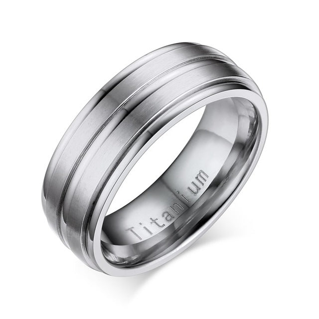 Men Titanium Carbide Bands Classic