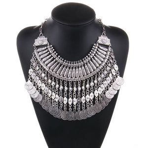 Collar Coin Necklace & Pendant Vintage Crystal Maxi Choker - 4 Different Styles