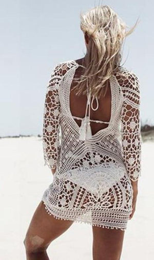 The BOHO Crochet beach cover up