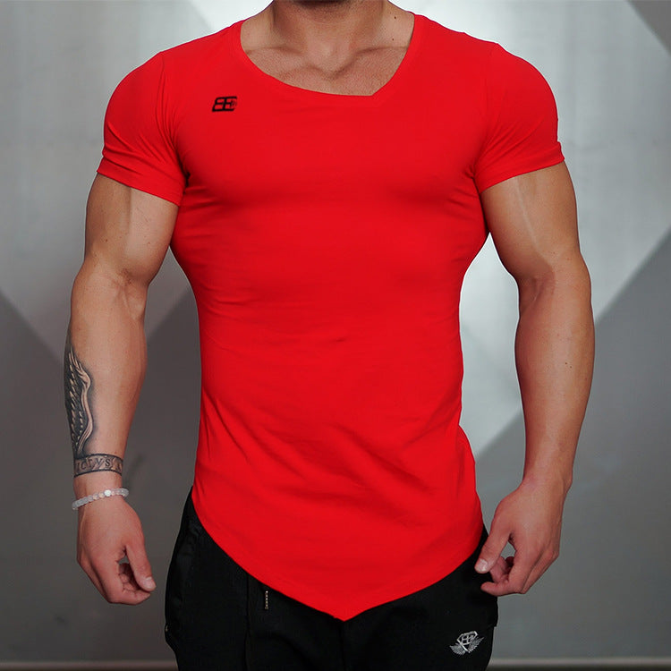 Men compression V-neck  T-Shirt