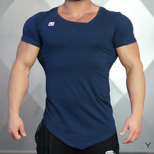 Men compression V-neck Short Sleeve Fitness T-Shirt
