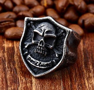 Good Luck Punk - Pirate Skull & Bones ring