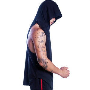 Bodybuilding Tank Top with Hoodie