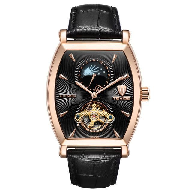 Tourbillon Moon Faze Automatic Winding Men Mechanical Watch