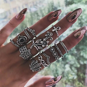 The Boho Vintage 15Pcs Vintage Ring Set