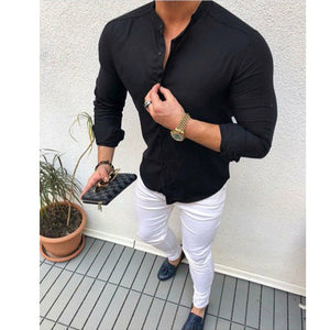The Social - Men's Fitted Long sleeve Shirt