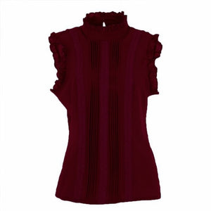 Stylish Vogue Ruffle Fitted Top