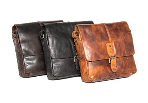 'Wyoming' - Small Vintage Leather Satchel