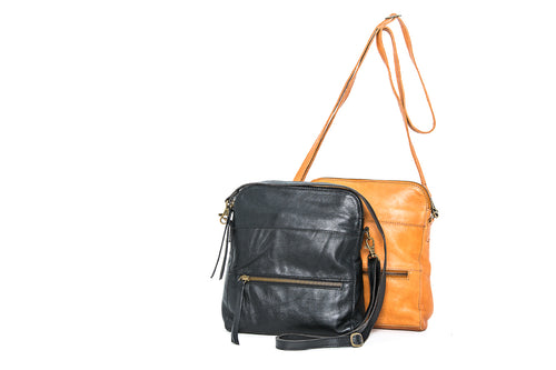 'Tamar' - Soft Leather Sling / Cross Body Bag