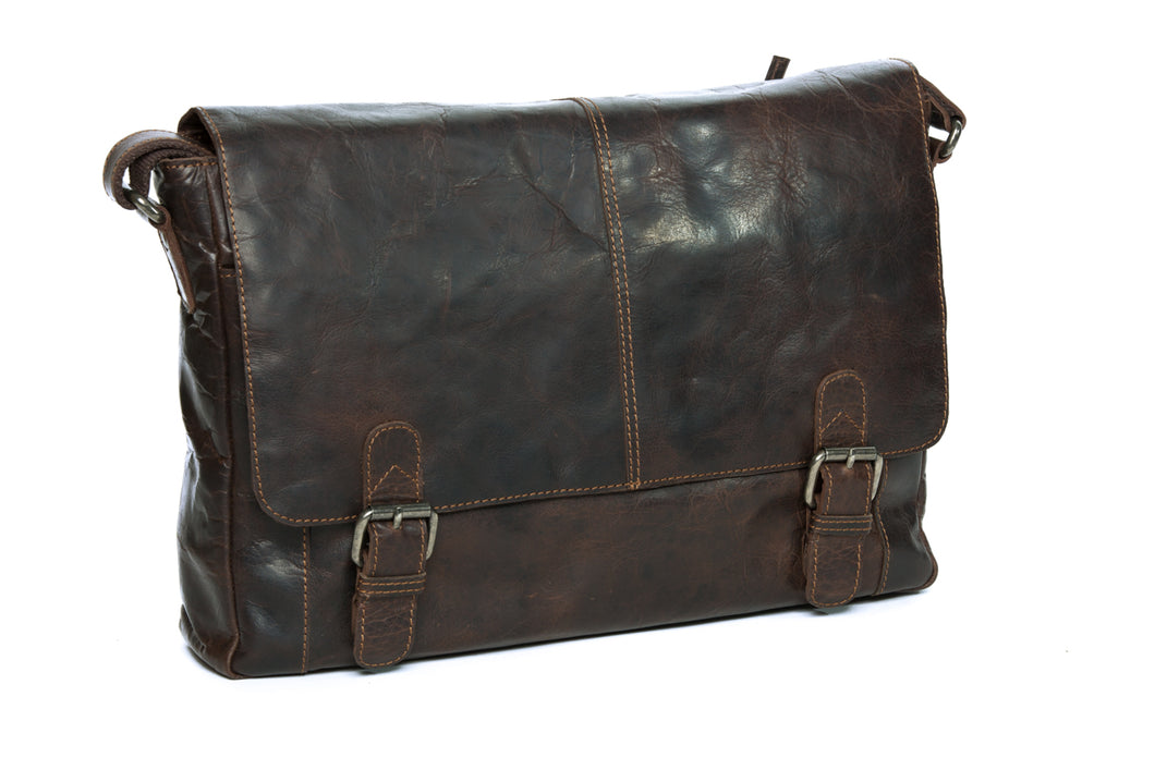 'Mason' - Leather Satchel