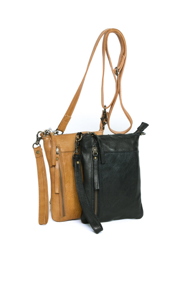 'Frances' - Small Leather Cross Body Bag / Clutch