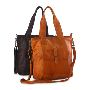 'Ava' - Light Weight Leather Tote