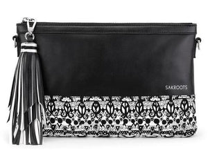 Seni Convertible Clutch - Black and White One World