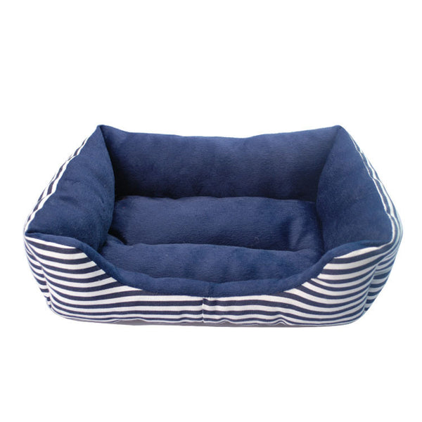 Washable Striped Kennel Bed