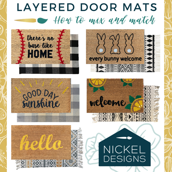 Add Curb Appeal this Spring with Layered Door Mats