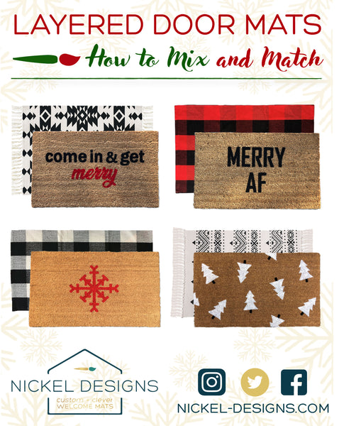 How to Layer your Doormats for Winter and Christmas!