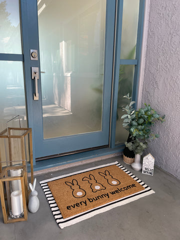 Easter porch decor and doormat