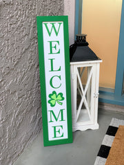 st patricks welcome sign