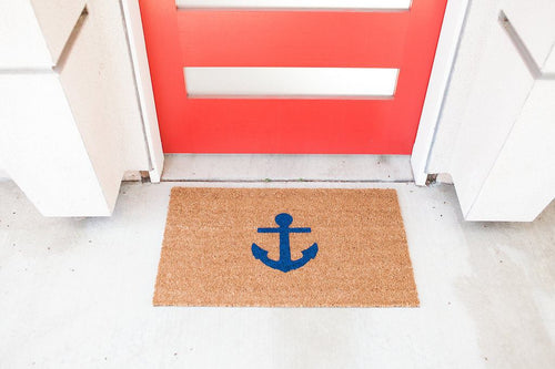 Doormat - Anchor Nautical Welcome Mat