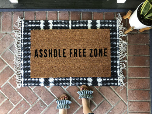 Doormat - Asshole Free Zone Rude Doormat