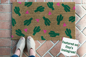 Doormat - Cactus Patterned Custom Doormat