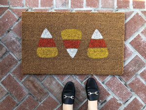 Doormat - Candy Corn Halloween Doormat