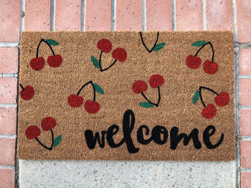 Doormat - Cherry Pattern Custom Doormat