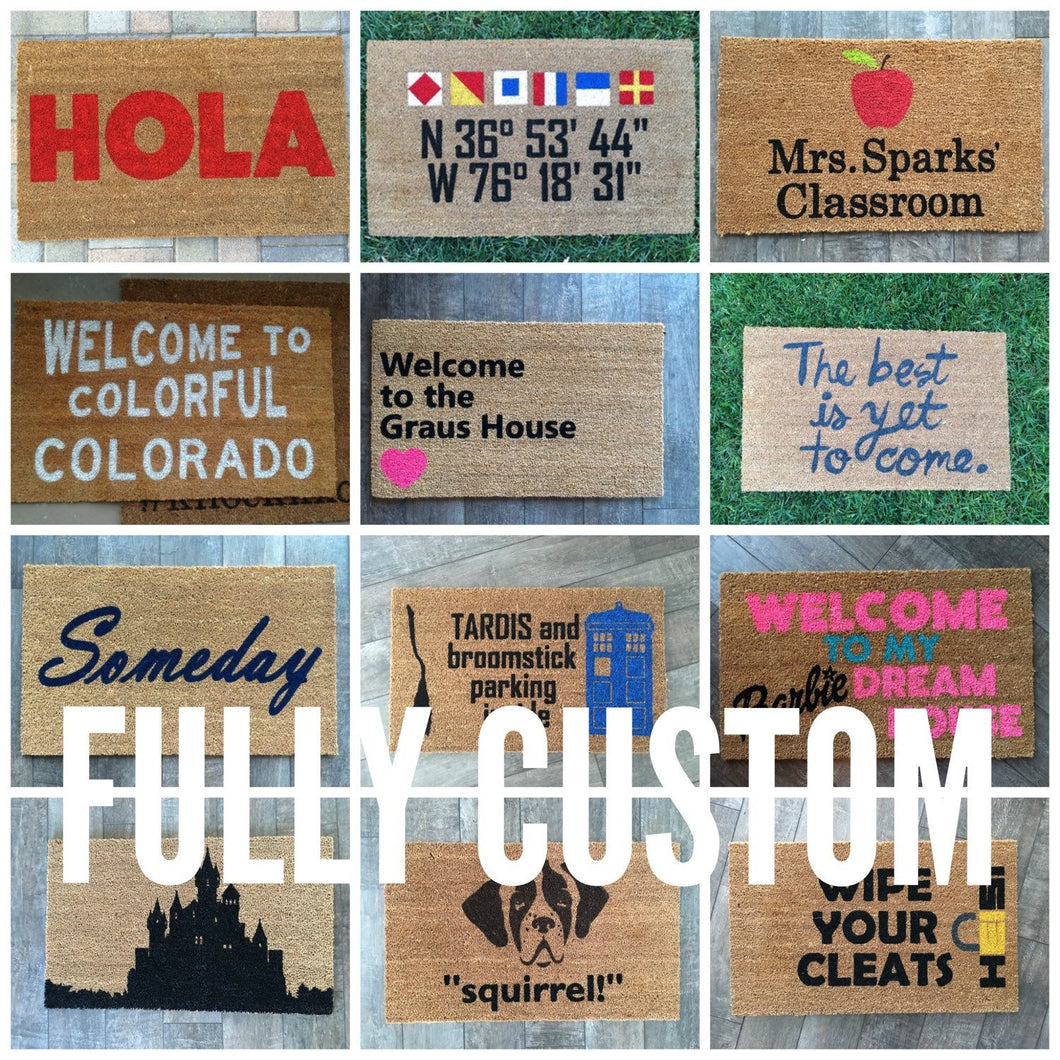 Doormat - Completely Custom Personalized Doormat