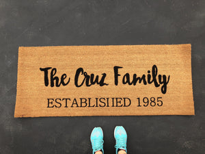 Doormat - Completely Custom Personalized Double Doormat