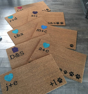 Doormat - Custom Initials Personalized Doormat