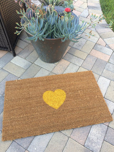 Doormat - Cute And Simple Custom Heart Doormat