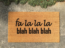Doormat - Fa La La Rude Holiday Doormat