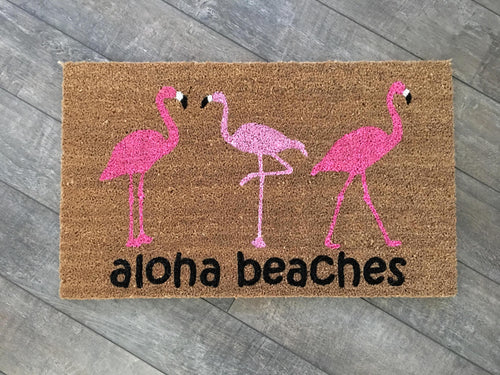 Doormat - Flamingo Trio Custom Doormat