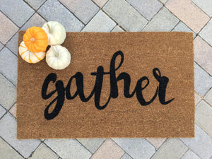 Doormat - Gather Thanksgiving Doormat
