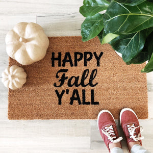 Doormat - Happy Fall Y'all Custom Doormat