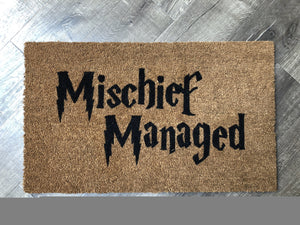 Doormat - Harry Potter Themed Mischief Managed Doormat