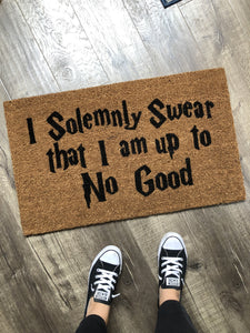 Doormat - Harry Potter Themed Solemnly Swear Doormat
