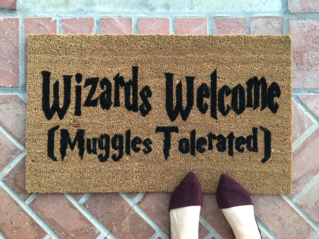 Doormat - Harry Potter Themed Wizards Welcome Doormat