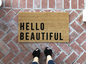 Doormat - Hello Beautiful Funny Outdoor Doormat