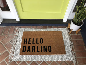 Doormat - Hello Darling Funny Outdoor Doormat