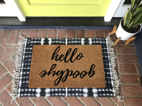 Doormat - Hello Goodbye Reversible Outdoor Doormat
